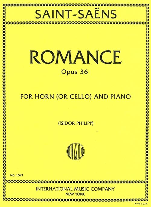 ロマンス・ヘ長調・Op.36(カミーユ・サン=サーンス)(チェロ+ピアノ)【Romance In F Op.36】
