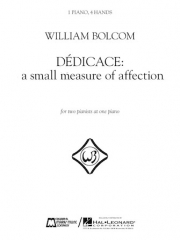 Dédicace – A Small Measure Of Affection(ウィリアム・ボルコム)(ピアノ二重奏)