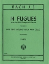 "14のフーガ・Vol.1(バッハ)(弦楽四重奏)【14 Fugues (from ""The Well-Tempered Clavier"") Volume I 】"